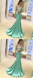 F0168 New Arrival Mermaid 2 Piece Prom Dress For Women