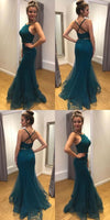 F0170 Fashion Two Pieces Mermaid Long Prom Dress Semi Formal Dresses Wedding Party Dress