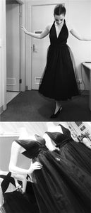 F0223 Convertible Black Prom Dresses, Simple Prom Dresses, Cheap Prom Dresses