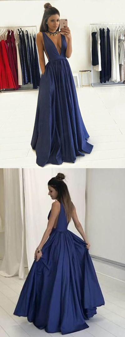 F0224 Sexy Prom Dress, Deep V Neck Prom Dress,Long Prom Dresses ,Sleeveless Evening Dress,Formal Women Dress