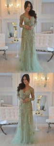 F0253 Admirable 2019 Prom Dresses, Long Sleeves Prom Dresses