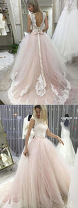 F0318 Backless wedding dresses, bowknot wedding dresses, lace wedding dresses, court train wedding dresses