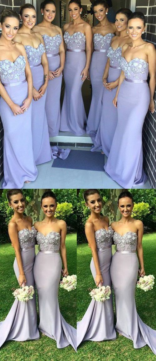 popular stores official photos for whole family Mermaid Bridesmaid Dresses,Lilac Lace Bridesmaid Dresses,Sweetheart Cheap  Bridesmaid Dress,Custom Made Long Bridesmaid Gown Prom Dresses ,F0407