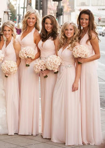 Simple A-line Long Bridesmaid Dress Custom Made Wedding Party Dress, F0423