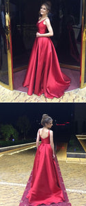 Burgundy Satin Long Backless Bridesmaid Dresses For Wedding Party, F0524