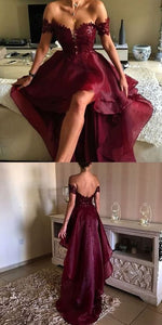 Burgundy Long Prom Dress Popular Plus Size Formal Evening Dresses For Teens, F0550