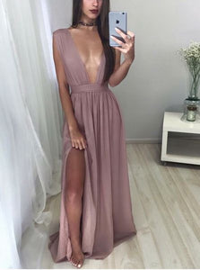 New Arrival Prom Dress,Sexy Deep V-neck Long Prom Dress,evening Dress, F0566