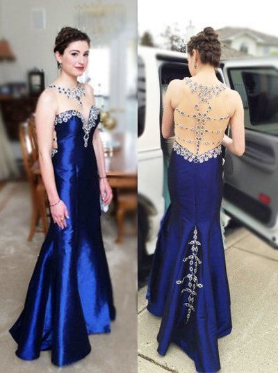Gorgeous High Quality Prom Dresses,O-Neck Prom Dresses,Satin Prom Dresses,Beading Prom Dresses,See Through Prom Dresses, F0572