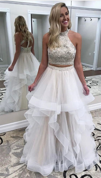 2 Piece Prom Dresses,Prom Dress 2018,Evening Gowns,Formal Dress,Banquet Dresses, F0582