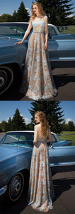 Prom Dress Brush Train Lace Long Popular Cheap Prom Dress/Evening Dress, F0617