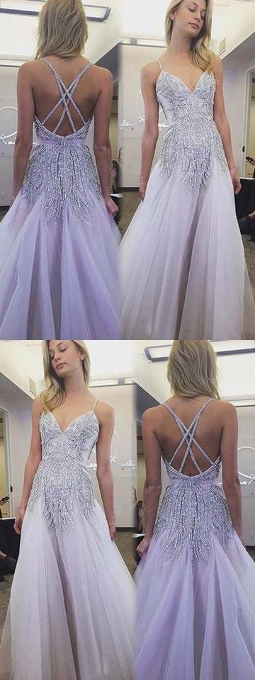 Sexy Spaghetti Straps Prom Dress, Tulle Party Dress, Mermaid Long Evening Dress  , F0628