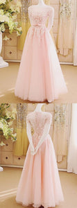 Prom Dresses,Pink Evening Gowns,Lace Formal Dresses,Prom Dresses With Lace,Beautiful Evening Dress,Pink Formal Dress,Lace Prom Gowns, F0663