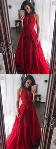 Engrossing Prom Dresses For Cheap, Prom Dresses Simple, Modest Prom Dresses, Red Prom Dresses, F0770