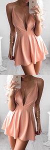 A-Line Homecoming Dresses, Cheap Homecoming Dresses, Pink Homecoming Dresses, F0808