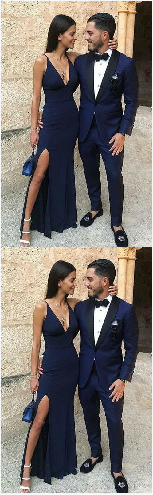 Charming Prom Dress, Navy Blue Mermaid Prom Dresses, Long Evening Dress Graduation Dress Cheap, F0817
