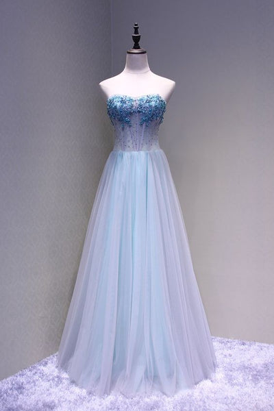 Beautiful Sweetheart Tulle A-line Formal Gown, Pretty Party Dress 2019, F0825