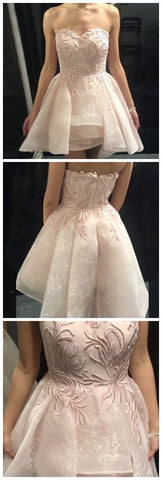 A-Line Homecoming Dress,Sweetheart Homecoming Dresses,Short Prom Dresses,Pearl , M0231