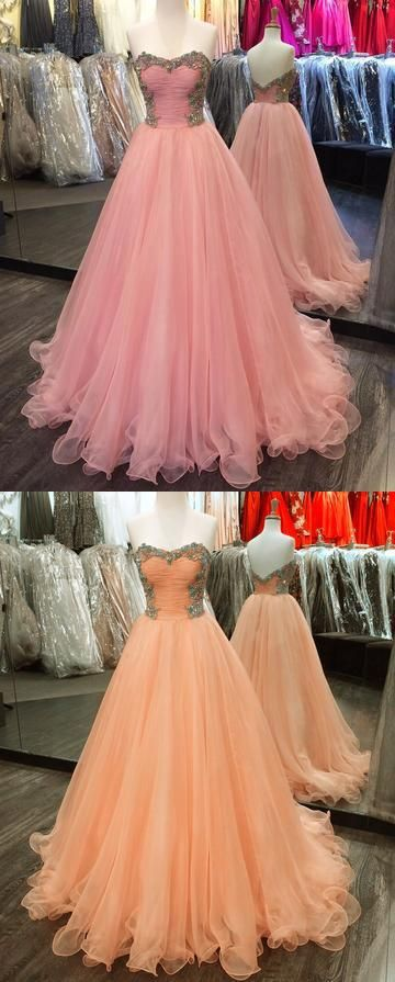 Crystal Beaded Long Prom Dresses Sweetheart Ball Gowns Backless Evening Formal Dresses ,M0871