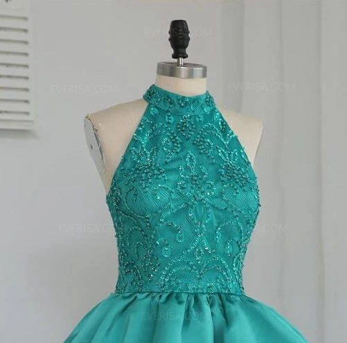 Sleeveless Lace A Line Homecoming Dresses,Tiered Cocktail Dresses,AP377
