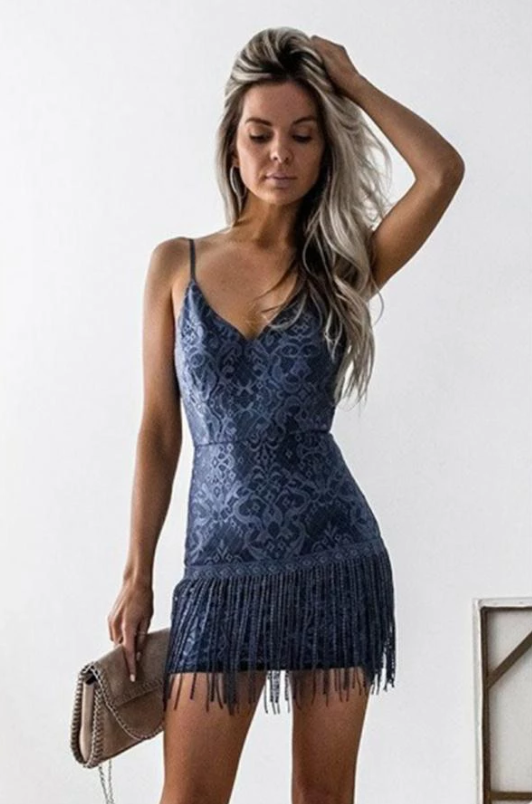 Spaghetti Straps V-neck Lace Sheath Short Homecoming Dresses For Teens,AE156