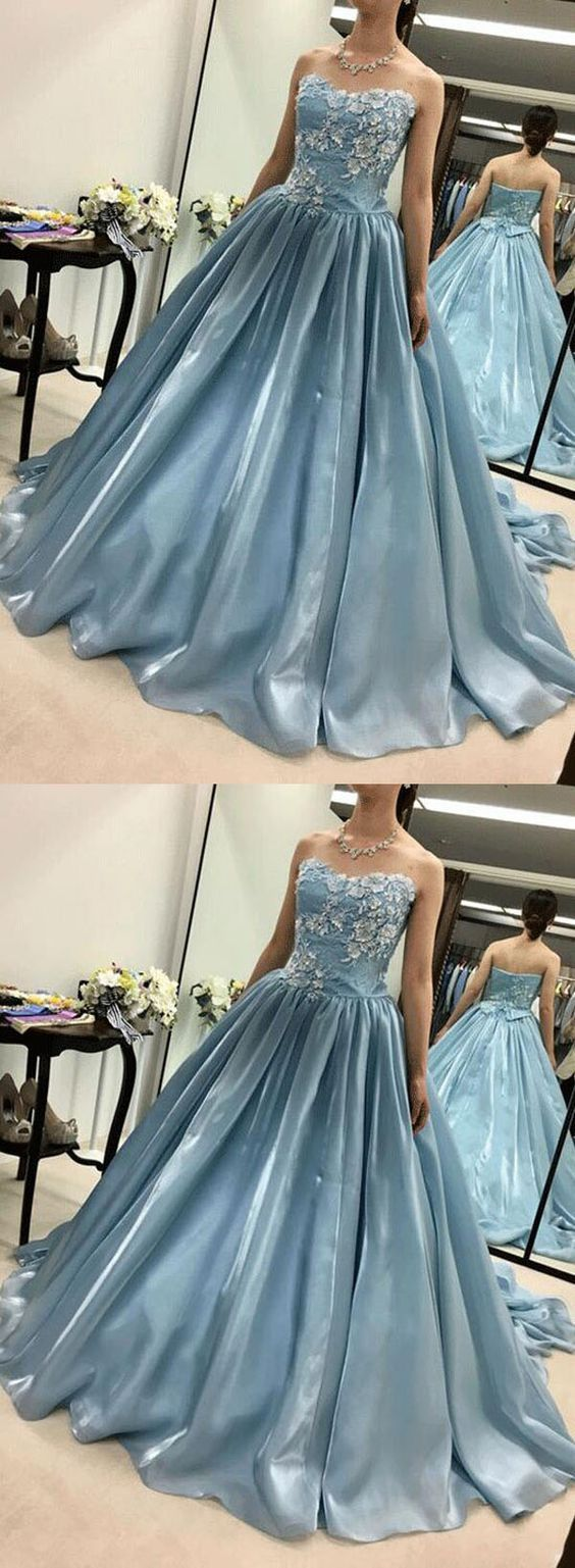 Newest Prom Dress,Sweetheart Prom Dress,Appliques Prom Dress,Long Prom Dress,Evening Dress, Y0113
