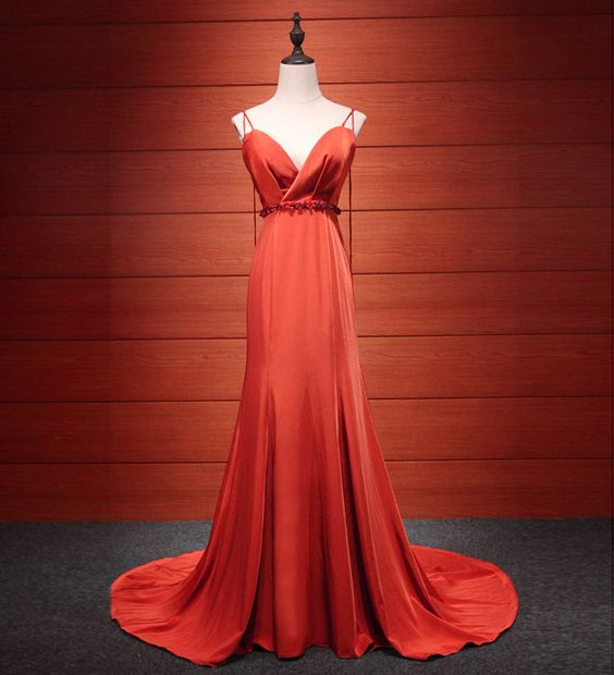 Red Long Formal Dress 2018, Red Party Dresses, Formal Dresses,Y0175