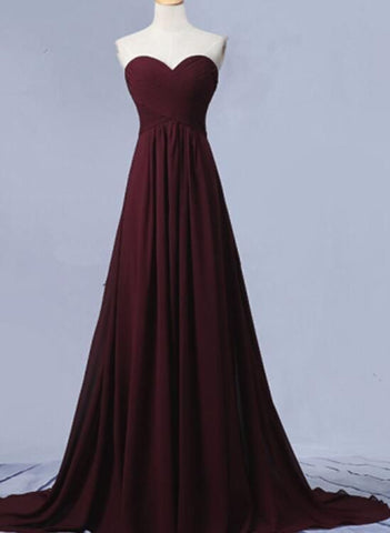 Maroon Junior Prom Dress 2018, Party Dresses, Bridesmaid Dresses For Weddings,, Y0178