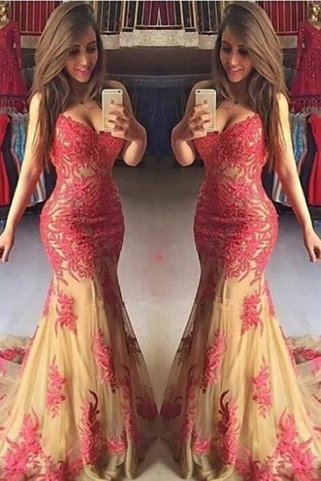 Elegant Mermaid Prom Dresses,Floor Length Prom Dress,Evening Dresses,Y0183