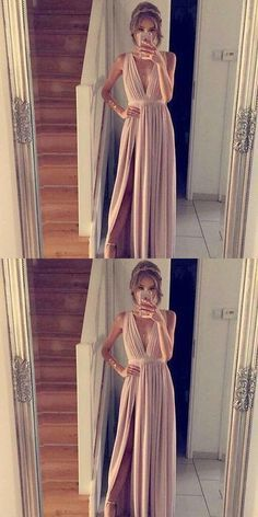 Charming Prom Dress,Sleeveless Long Prom Gown,Sexy Prom Dresses,Long Split Side Evening Dress ,Y0193