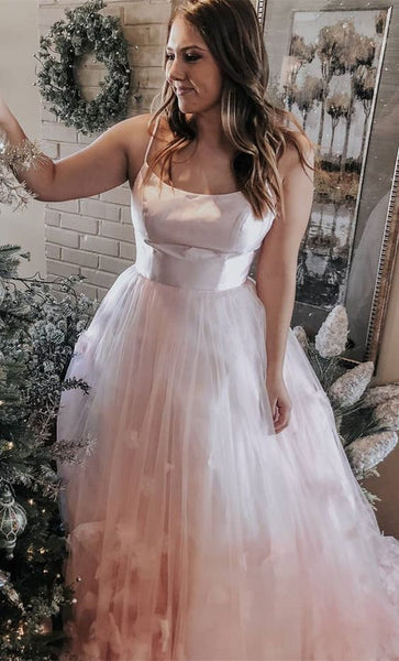 Gorgeous Spaghetti Straps Pink Ball Gown, Sweet 16 Dress, Prom Dress 2019, Y0236