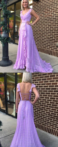 Princess Lilac Long Prom Dress, 2019 Prom Dress, Boho Prom Dres, Y0247