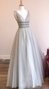 princess prom dresses, A-line Grey Prom Dresses, Long Prom Dresses 2910, Sweet 16 Dresses, Graduation Dresses, Y0249
