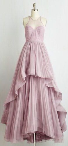 Beautiful Long Prom Dress, A-Line Prom Dress,Pleat Evening Dress, Y0298