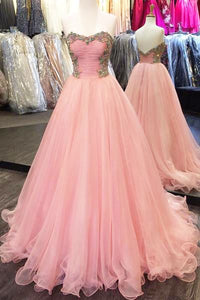 Sexy Prom Dress,Charming Prom Dresses,Sleeveless Tulle Evening Dress,Long Prom Dress,Appliques Homecoming Dress,Formal Dress, Y0362