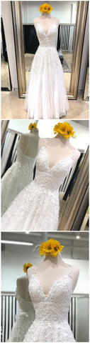 2018 White Prom Dresses A-line Spaghetti Straps Custom Long Prom Dresses Evening Dress , Y0483