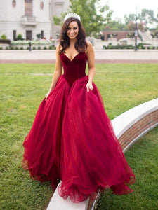 A-Line Sweetheart Floor-Length Sleeveless Prom Dress with Ruched, Y0515