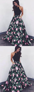 Prom Dresses Long, Black Prom Dresses, Beautiful Prom Dresses, A-Line Prom, Y0853