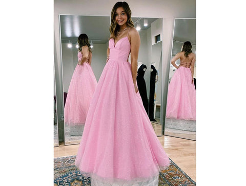 Pink Princess Long Prom Dress,DR2598