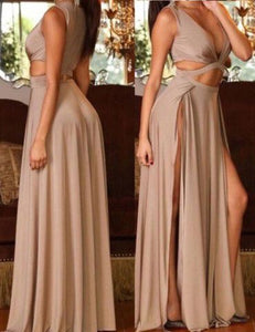 SEXY SPLIT SIDE LONG PROM DRESSES UNDER 100 FOR WOMEN,CD577