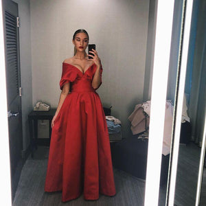 High Fashion A Line Off the Shoulder Red Long Prom/Evening Dress 2020,CD579