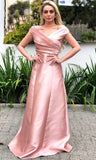 Off The Shoulder Satin Long Prom Dress,CD629