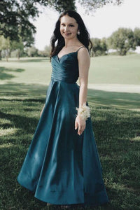 Elegant Pleated A-Line Long Prom Dress ,CD633