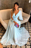 Prom Dress, Long Sleeve Prom Dress, chiffon Prom Dress, Sexy Prom Gowns, Evening Dress,CD646