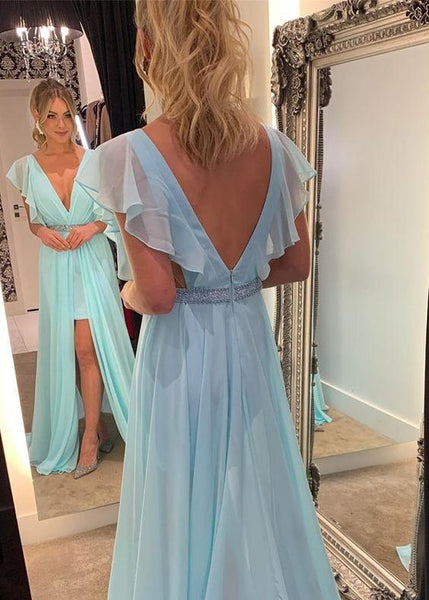 2020 Prom Dress, Long Prom Dress, A Line Simple Prom Dress ,CD647