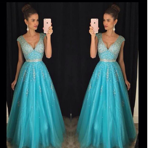 V-Neck Beading Prom Dress,Long Prom Dresses,Prom Dresses,Evening Dress, Prom Gowns, Formal Women Dress,prom dress,CD660