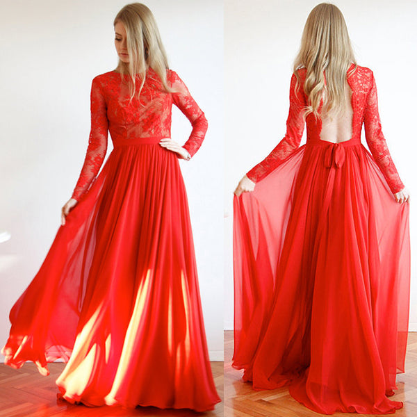 Backless Red Prom Dress,Long Prom Dresses,Prom Dresses,Evening Dress, Prom Gowns, Formal Women Dress,prom dress,CD663