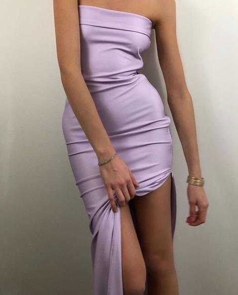 Simple lilac Long Prom Dress CD992