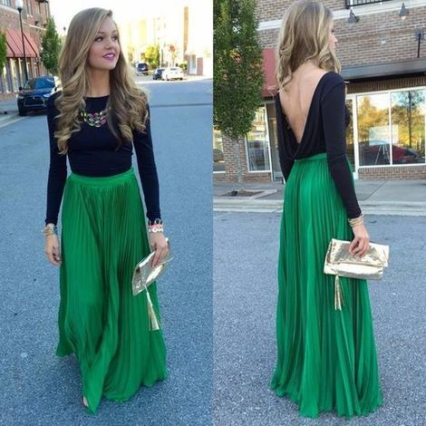 Long sleeves prom dress , open back prom dress,DR0093