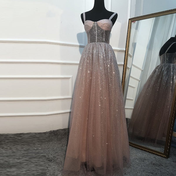 Sparkle Tulle Long Formal Gown,DR0230