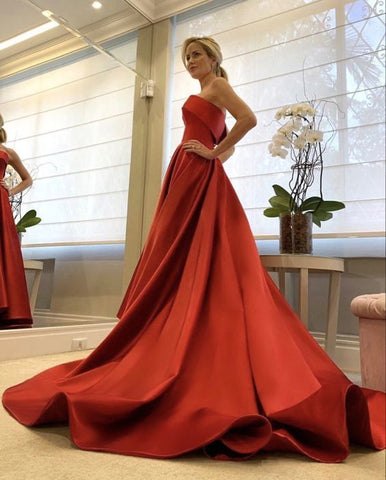red prom dresses 2021,red evening gown,DR0402